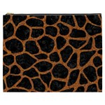 SKIN1 BLACK MARBLE & RUSTED METAL Cosmetic Bag (XXXL)