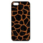 SKIN1 BLACK MARBLE & RUSTED METAL Apple iPhone 5 Seamless Case (Black)