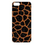 SKIN1 BLACK MARBLE & RUSTED METAL Apple iPhone 5 Seamless Case (White)