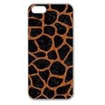 SKIN1 BLACK MARBLE & RUSTED METAL Apple Seamless iPhone 5 Case (Clear)