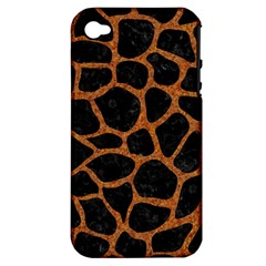 SKIN1 BLACK MARBLE & RUSTED METAL Apple iPhone 4/4S Hardshell Case (PC+Silicone)