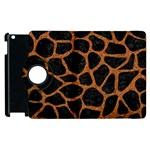 SKIN1 BLACK MARBLE & RUSTED METAL Apple iPad 2 Flip 360 Case Front