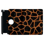 SKIN1 BLACK MARBLE & RUSTED METAL Apple iPad 3/4 Flip 360 Case