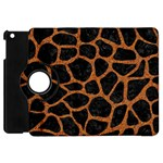 SKIN1 BLACK MARBLE & RUSTED METAL Apple iPad Mini Flip 360 Case