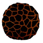 SKIN1 BLACK MARBLE & RUSTED METAL Large 18  Premium Round Cushions Front