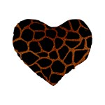 SKIN1 BLACK MARBLE & RUSTED METAL Standard 16  Premium Heart Shape Cushions Front