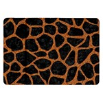 SKIN1 BLACK MARBLE & RUSTED METAL Samsung Galaxy Tab 8.9  P7300 Flip Case