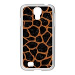 SKIN1 BLACK MARBLE & RUSTED METAL Samsung GALAXY S4 I9500/ I9505 Case (White)