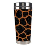 SKIN1 BLACK MARBLE & RUSTED METAL Stainless Steel Travel Tumblers