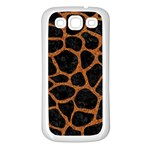 SKIN1 BLACK MARBLE & RUSTED METAL Samsung Galaxy S3 Back Case (White)