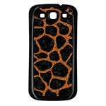 SKIN1 BLACK MARBLE & RUSTED METAL Samsung Galaxy S3 Back Case (Black)
