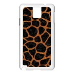 SKIN1 BLACK MARBLE & RUSTED METAL Samsung Galaxy Note 3 N9005 Case (White) Front