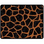 SKIN1 BLACK MARBLE & RUSTED METAL Double Sided Fleece Blanket (Medium)