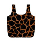 SKIN1 BLACK MARBLE & RUSTED METAL Full Print Recycle Bags (M)