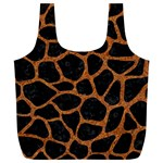 SKIN1 BLACK MARBLE & RUSTED METAL Full Print Recycle Bags (L)