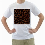 SKIN1 BLACK MARBLE & RUSTED METAL Men s T-Shirt (White)