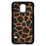 SKIN1 BLACK MARBLE & RUSTED METAL Samsung Galaxy S5 Case (Black)
