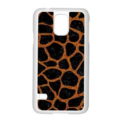 Skin1 Black Marble & Rusted Metal Samsung Galaxy S5 Case (white) by trendistuff