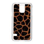 SKIN1 BLACK MARBLE & RUSTED METAL Samsung Galaxy S5 Case (White)