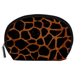 SKIN1 BLACK MARBLE & RUSTED METAL Accessory Pouches (Large)