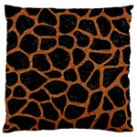 SKIN1 BLACK MARBLE & RUSTED METAL Standard Flano Cushion Case (One Side)