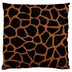 SKIN1 BLACK MARBLE & RUSTED METAL Large Flano Cushion Case (One Side)