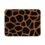 SKIN1 BLACK MARBLE & RUSTED METAL Double Sided Flano Blanket (Mini)