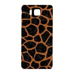 SKIN1 BLACK MARBLE & RUSTED METAL Samsung Galaxy Alpha Hardshell Back Case