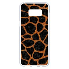 Skin1 Black Marble & Rusted Metal Samsung Galaxy S8 Plus White Seamless Case