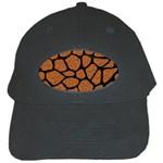 SKIN1 BLACK MARBLE & RUSTED METAL (R) Black Cap