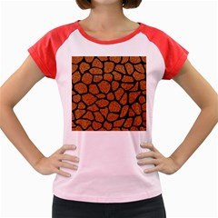 Skin1 Black Marble & Rusted Metal (r) Women s Cap Sleeve T Shirt