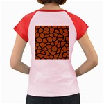 SKIN1 BLACK MARBLE & RUSTED METAL (R) Women s Cap Sleeve T-Shirt Back