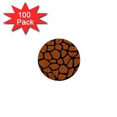 Skin1 Black Marble & Rusted Metal (r) 1  Mini Buttons (100 Pack)