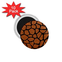 Skin1 Black Marble & Rusted Metal (r) 1 75  Magnets (10 Pack)  by trendistuff