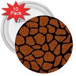 SKIN1 BLACK MARBLE & RUSTED METAL (R) 3  Buttons (10 pack)