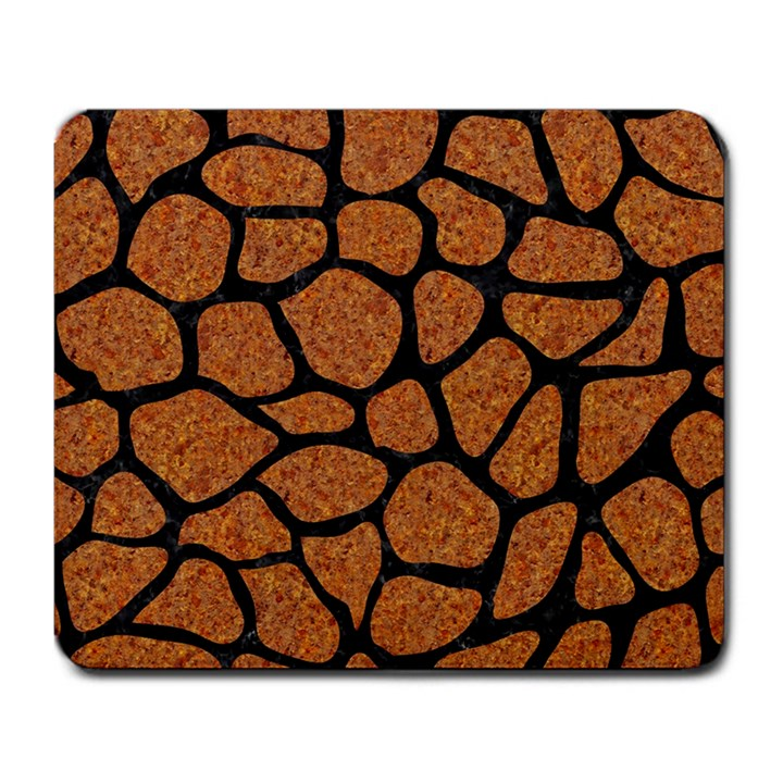 SKIN1 BLACK MARBLE & RUSTED METAL (R) Large Mousepads