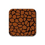 SKIN1 BLACK MARBLE & RUSTED METAL (R) Rubber Coaster (Square)