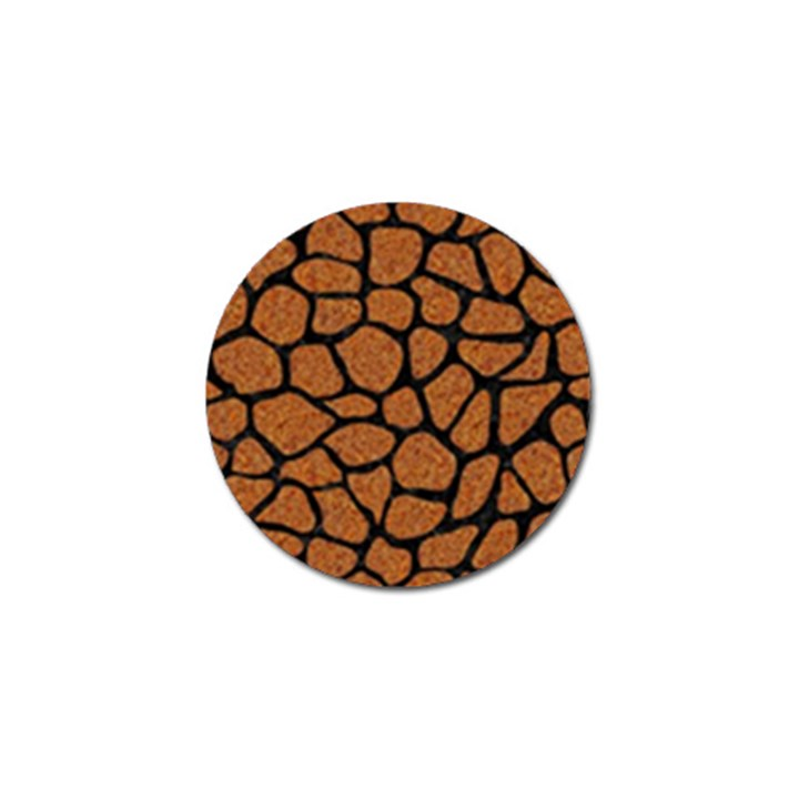 SKIN1 BLACK MARBLE & RUSTED METAL (R) Golf Ball Marker
