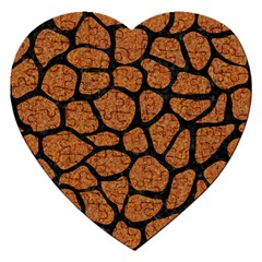 Skin1 Black Marble & Rusted Metal (r) Jigsaw Puzzle (heart) by trendistuff