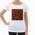 SKIN1 BLACK MARBLE & RUSTED METAL (R) Women s Loose-Fit T-Shirt (White)