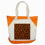 SKIN1 BLACK MARBLE & RUSTED METAL (R) Accent Tote Bag Front