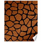 SKIN1 BLACK MARBLE & RUSTED METAL (R) Canvas 16  x 20