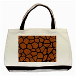 SKIN1 BLACK MARBLE & RUSTED METAL (R) Basic Tote Bag (Two Sides)