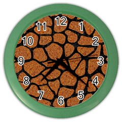Skin1 Black Marble & Rusted Metal (r) Color Wall Clocks by trendistuff