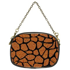 Skin1 Black Marble & Rusted Metal (r) Chain Purses (two Sides)  by trendistuff