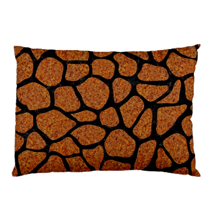 SKIN1 BLACK MARBLE & RUSTED METAL (R) Pillow Case