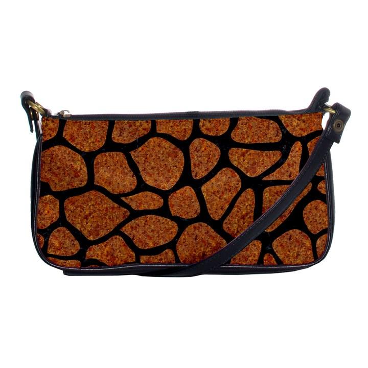 SKIN1 BLACK MARBLE & RUSTED METAL (R) Shoulder Clutch Bags