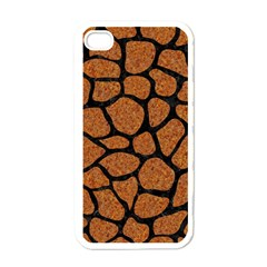 Skin1 Black Marble & Rusted Metal (r) Apple Iphone 4 Case (white)