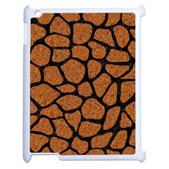 Skin1 Black Marble & Rusted Metal (r) Apple Ipad 2 Case (white) by trendistuff