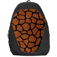 Skin1 Black Marble & Rusted Metal (r) Backpack Bag by trendistuff